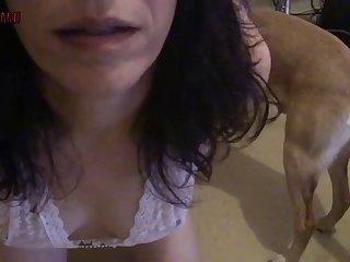 Slutty  Amateur Dog porn 010